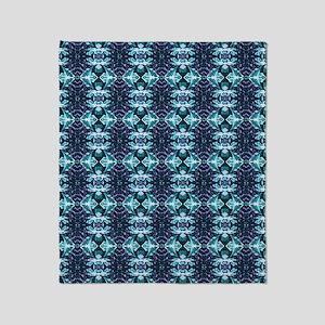 Elegant Blue Art Pattern Throw Blanket
