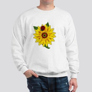 Mosaic Sunflower with Lady Bug Sweatshirt