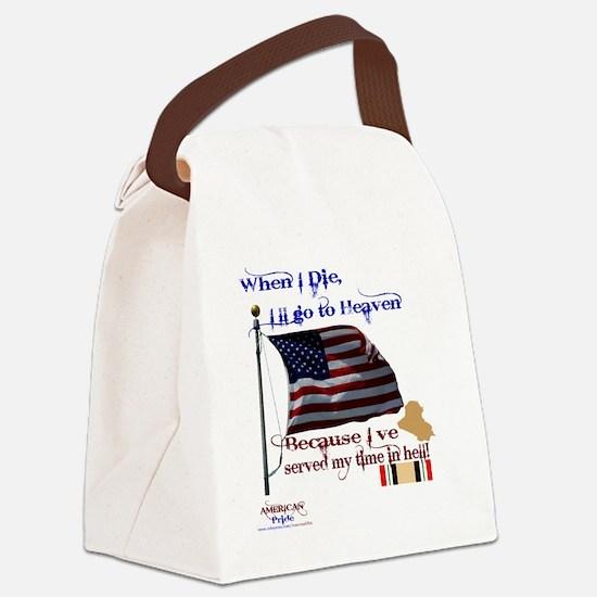 When I Die... Iraq Canvas Lunch Bag