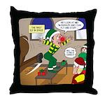 Elf Launch Throw Pillow