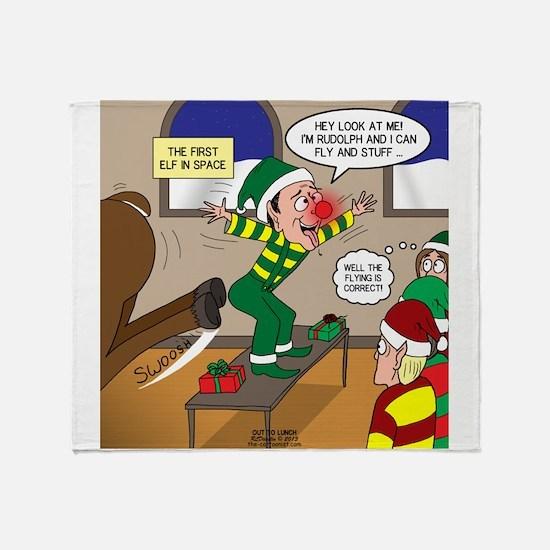 Elf Launch Throw Blanket