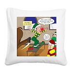 Elf Launch Square Canvas Pillow