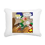 Elf Launch Rectangular Canvas Pillow