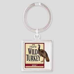 Hunt Wild Turkey Square Keychain