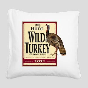 Hunt Wild Turkey Square Canvas Pillow
