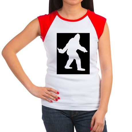 Bigfoot Flips The Bird Women's Cap Sleeve T-Shirt