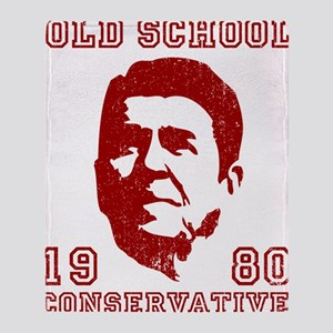 Old School Conservative Throw Blanket