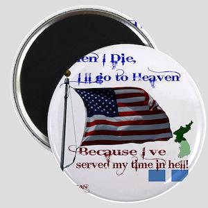 When I Die... Korea Magnet