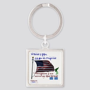When I Die... Korea Square Keychain