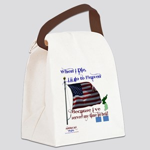 When I Die... Korea Canvas Lunch Bag