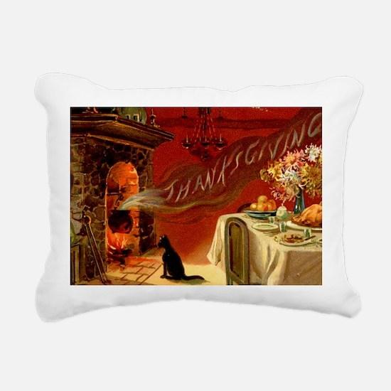 thanksgiving dinner Rectangular Canvas Pillow