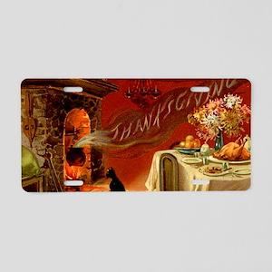 thanksgiving dinner Aluminum License Plate