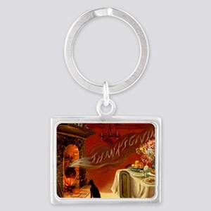 thanksgiving dinner Landscape Keychain