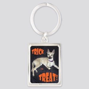 Boo Trick for Treat Portrait Keychain
