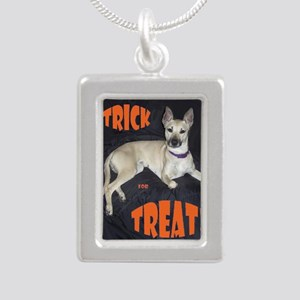 Boo Trick for Treat Silver Portrait Necklace