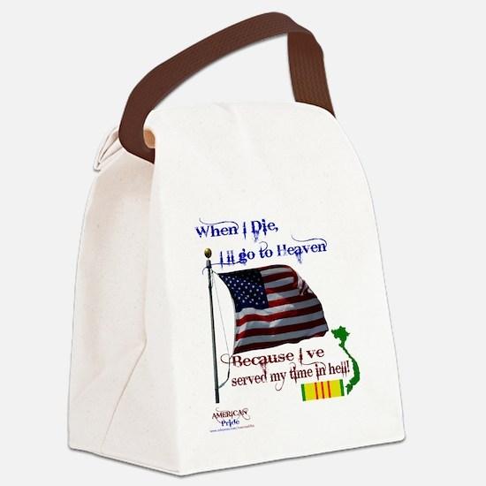 When I Die... Vietnam Canvas Lunch Bag
