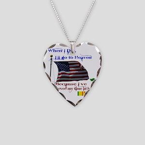 When I Die... Vietnam Necklace Heart Charm