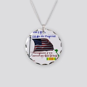 When I Die... Vietnam Necklace Circle Charm
