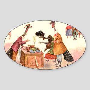 VEGAN CARD Sticker (Oval)