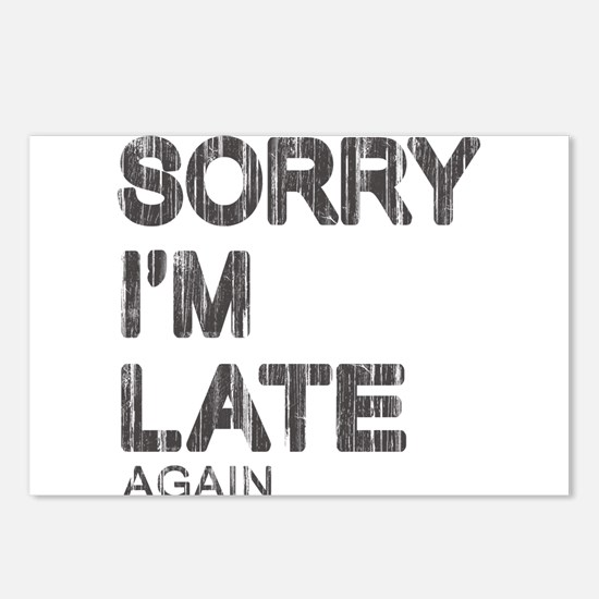 Sorry I'm Late Postcards (Package of 8)