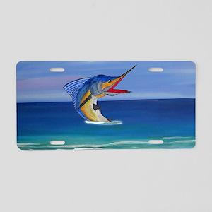 Marlin Deep Sea Fishing Aluminum License Plate