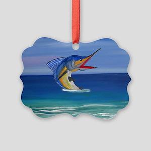 Marlin Deep Sea Fishing Picture Ornament