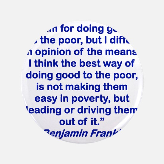 """I AM FOR DOING GOOD TO THE POOR... 3.5"""" Button"""