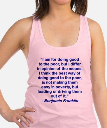 I AM FOR DOING GOOD TO THE POOR Racerback Tank Top