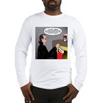 A Vampire Contemplates Santa Long Sleeve T-Shirt