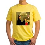 A Vampire Contemplates Santa Yellow T-Shirt