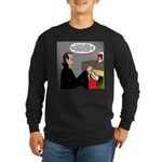 A Vampire Contemplates Santa Long Sleeve Dark T-Sh