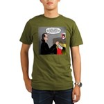 A Vampire Contemplates Santa Organic Men's T-Shirt