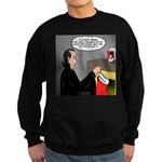 A Vampire Contemplates Santa Sweatshirt (dark)