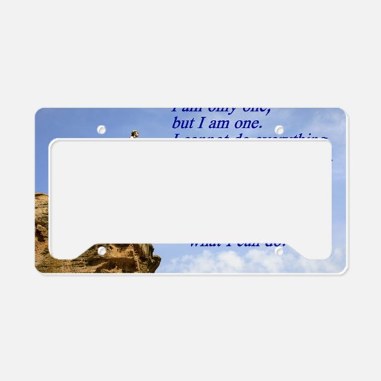 only one License Plate Holder