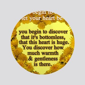 """heart huge 3.5"""" Button"""
