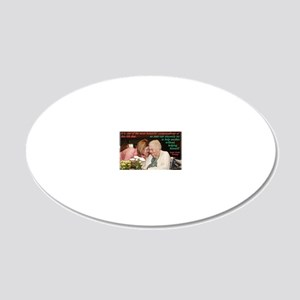 helping himself 20x12 Oval Wall Decal