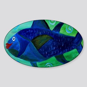 Lady Fish Sticker (Oval)