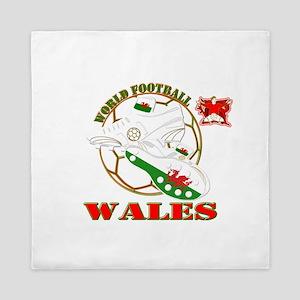 world football wales dragons Queen Duvet