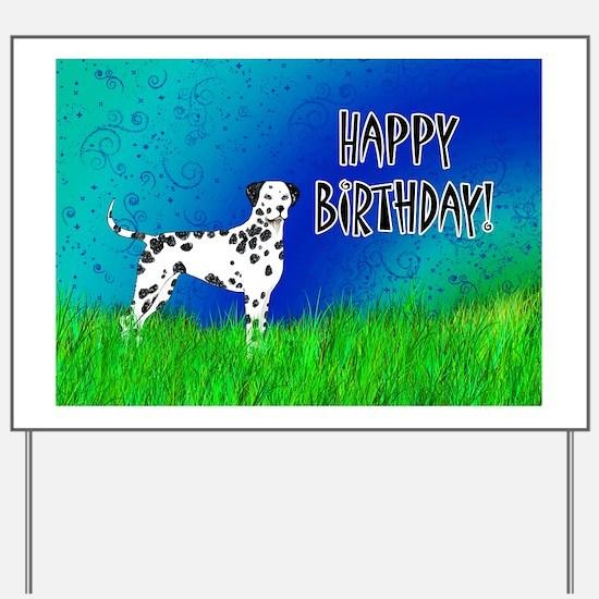 Birthday Dalmatian Yard Sign