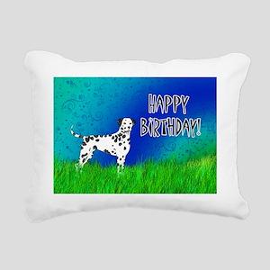 Birthday Dalmatian Rectangular Canvas Pillow