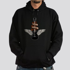 e-guitar rock wings Hoodie (dark)