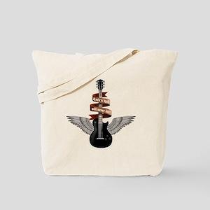 e-guitar rock wings Tote Bag