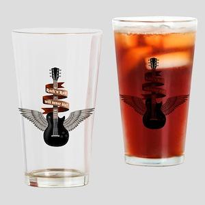 e-guitar rock wings Drinking Glass