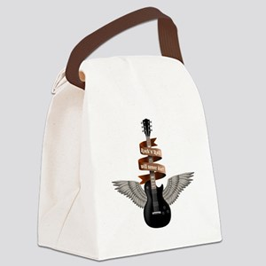 e-guitar rock wings Canvas Lunch Bag
