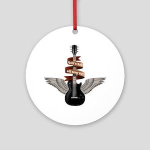 e-guitar rock wings Round Ornament