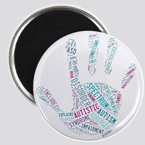 Autism Awareness - Talk To The Hand Magnet