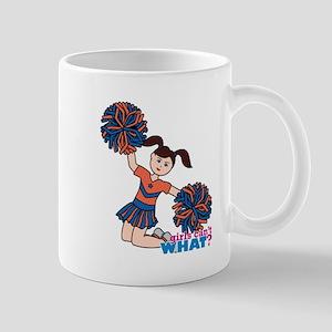 Cheerleader Orange and Blue Mug