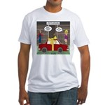 Car Christmas Present Fitted T-Shirt