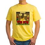 Car Christmas Present Yellow T-Shirt