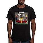 Car Christmas Present Men's Fitted T-Shirt (dark)